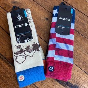 NWT! Stance snowboard socks. Men's L/XL 9-13.